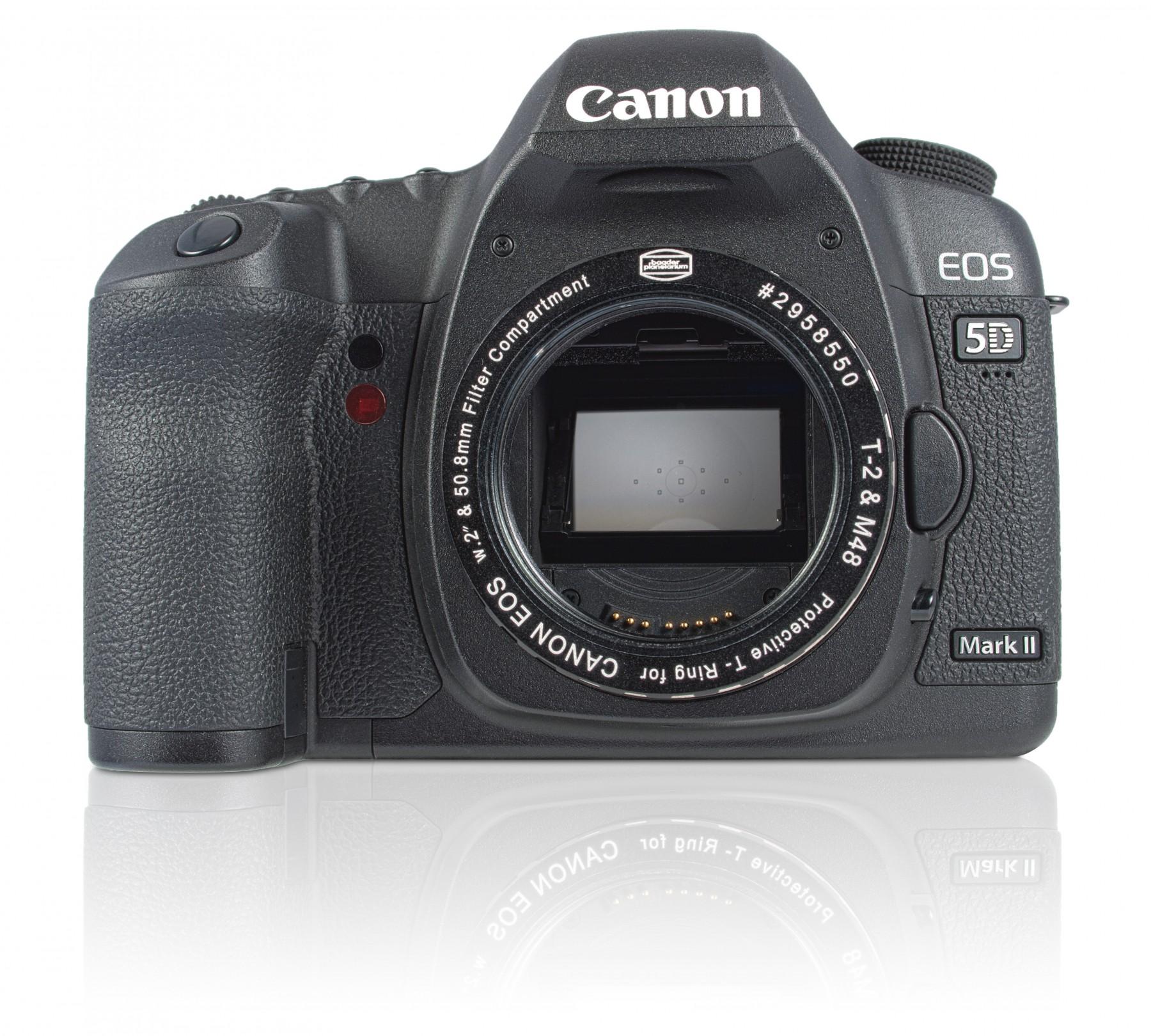 Canon EOS Protective T-Ring in Standardausführung ohne zusätzlichen Filter. Kamera nicht im Lieferumfang enthalten