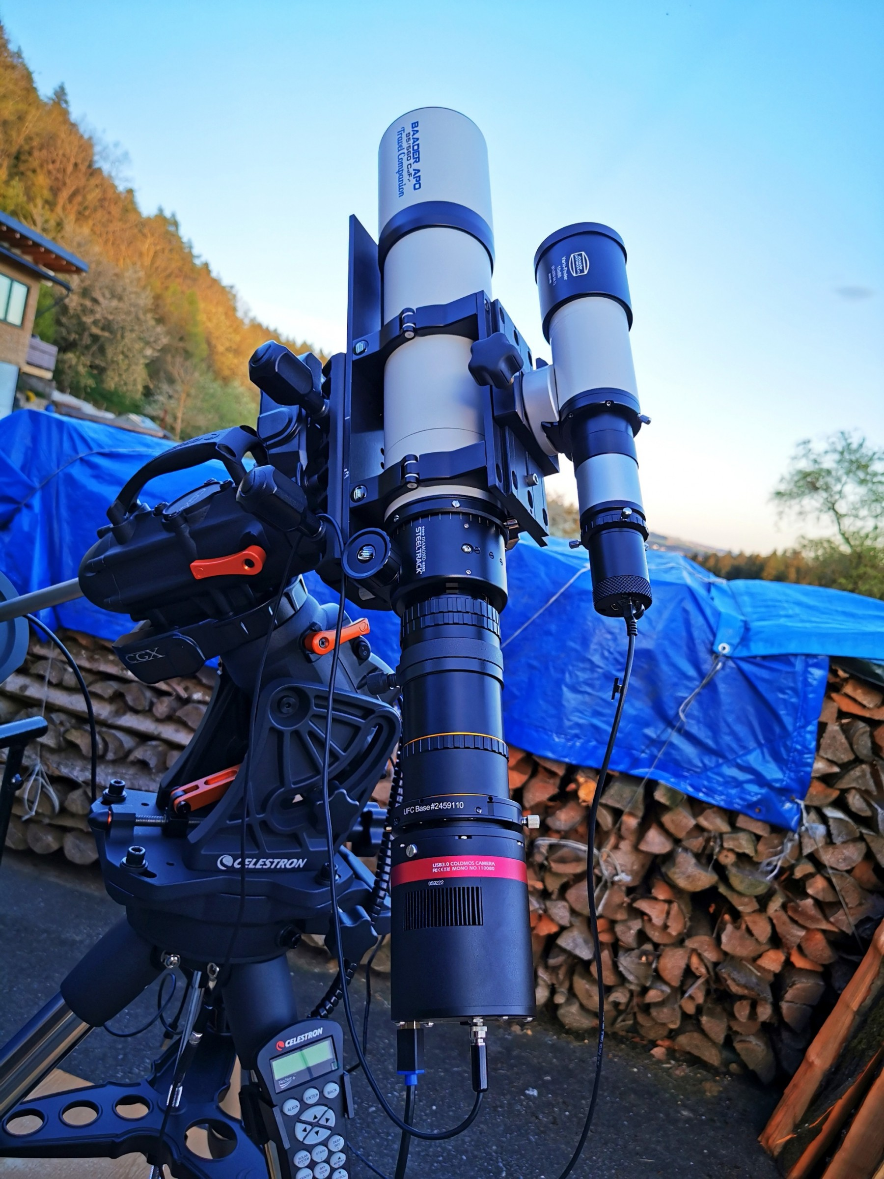 Application image: Baader Apo 95/580 with Celestron CGX Mount