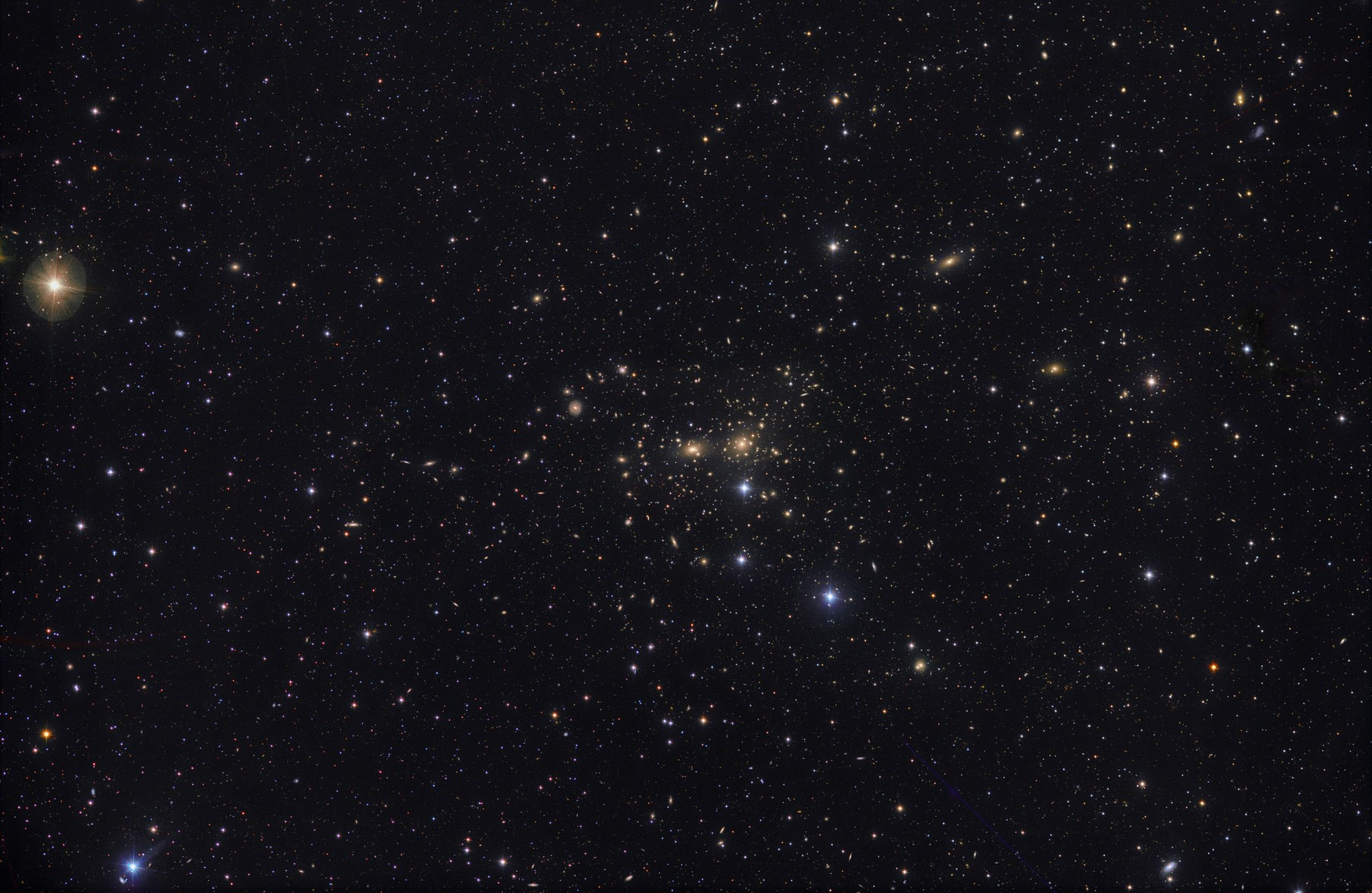 "Application image:: (C) Michael Jäger: Coma Cluster 40/40/40 minutes with 11 ""RASA and QHY 600 EB at 2x2 Modus"
