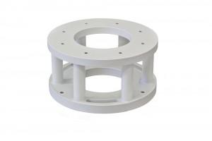 Baader Steel Leveling flange for Planewave L-Mount 500/600, Height 10cm