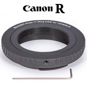 Wide-T-Ring Canon R (für Canon R Bajonett) mit D52i auf T-2 und S52
