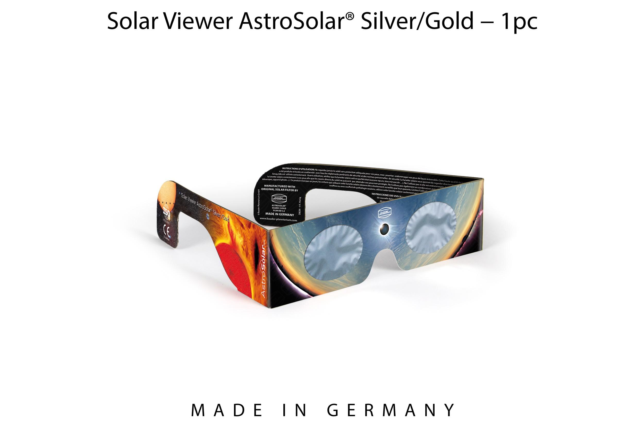 1 x Solar Viewer AstroSolar® Silver/Gold