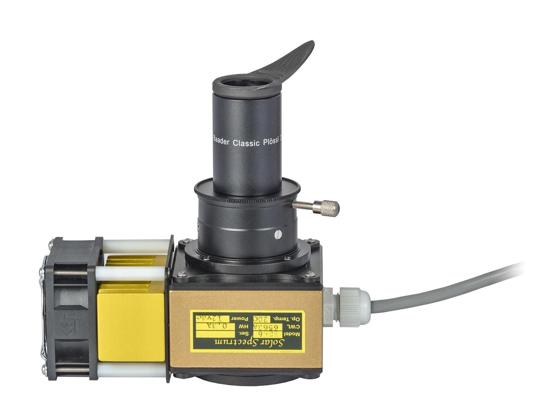 "Anwendungsbild: Der Pushfix mit dem 2""a/T2a-Adapter #1508035 an einem SolarSpectrum-H-Alpha-Filter"