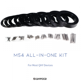 QHY All-In-One Adapter-Kit M54, kompatibel für alle CMOS Kameras, CFW3S Standard / Thin / Large & QHY OAG-M