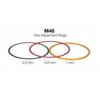 M48 Fein-Abstimmringe aus Aluminium (0,3 / 0,5 / 1 mm)