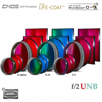 3.5 / 4nm  f/2 Ultra-Highspeed-Filtersatz – CMOS-optimiert (H-alpha / O-III / S-II)