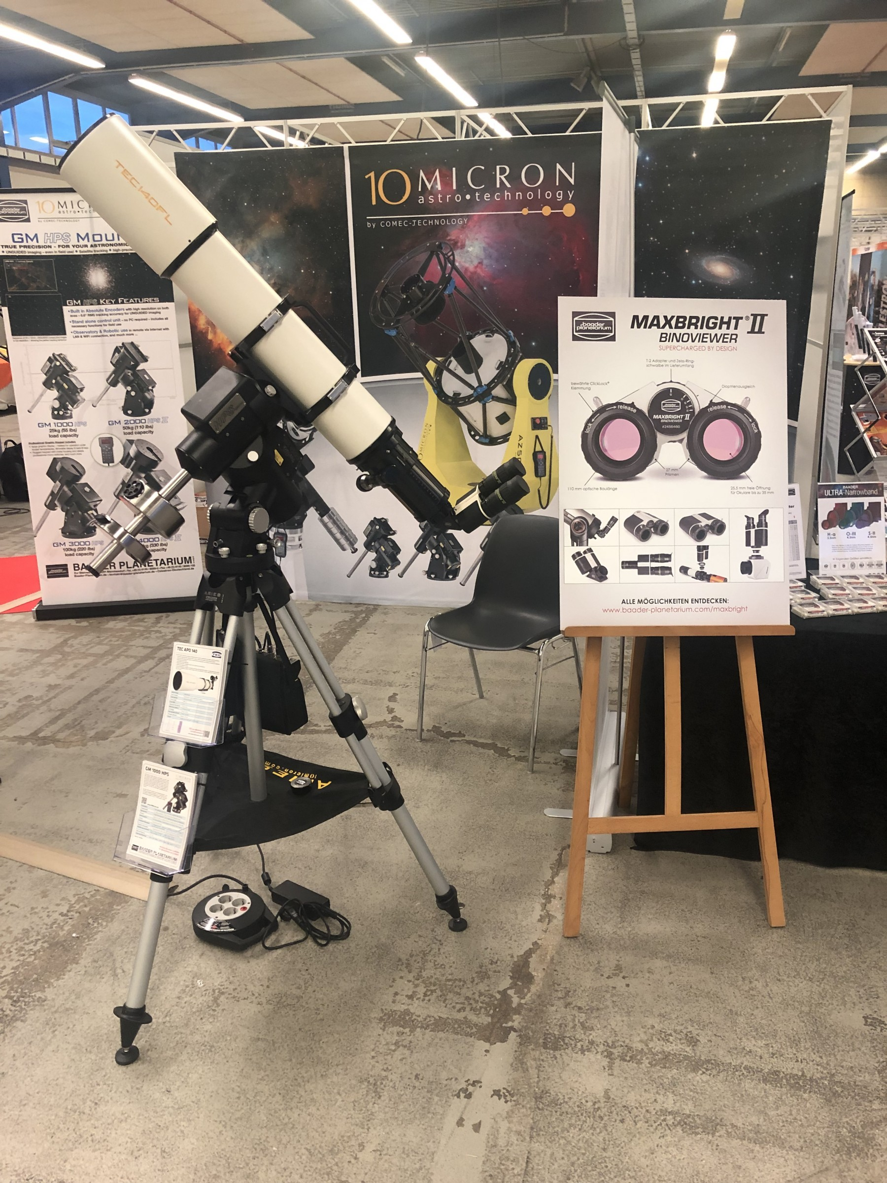 Application: TEC APO 140 FL with Baader MaxBright II Binoviewer at AME Show 2019