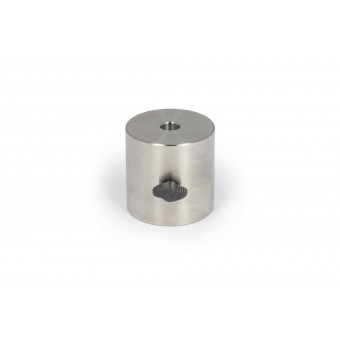 2.5 kg leveling counterweight Ø 75x75mm, made of V2A stainless steel