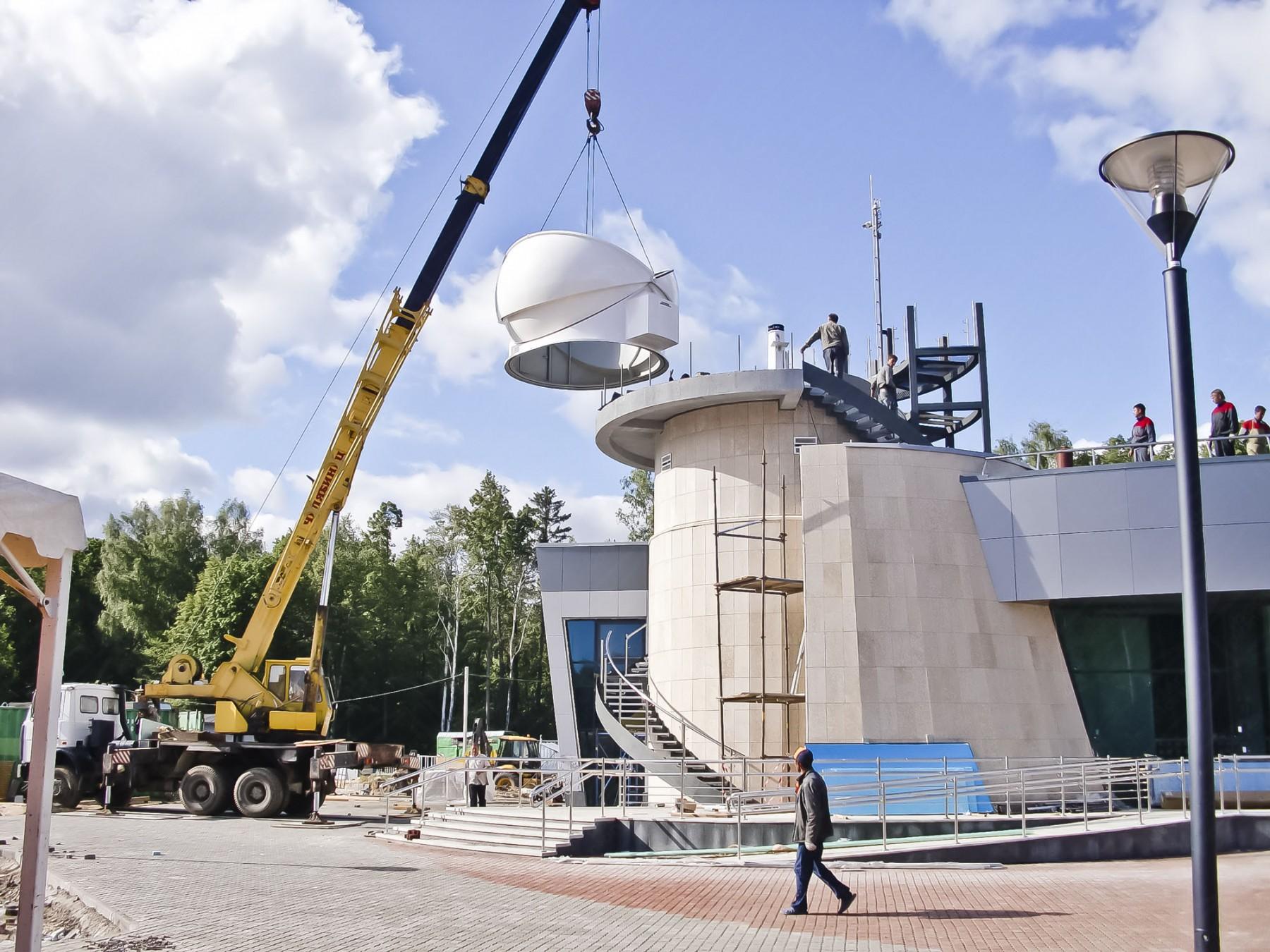 Montage einer 4.5m Schlüsselfertigen Sternwarte (AllSky) in Khazan, Russland