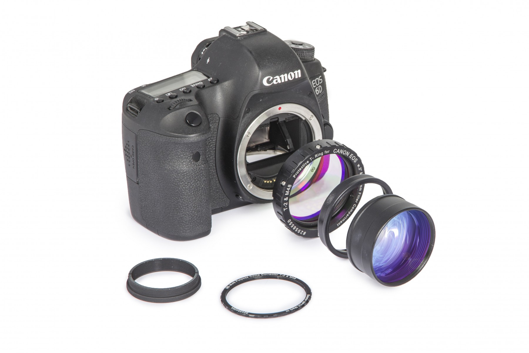 Anwendungsbild: MPCC V-1 Set  mit Protective T-Ring an Canon Kamera - Exloded