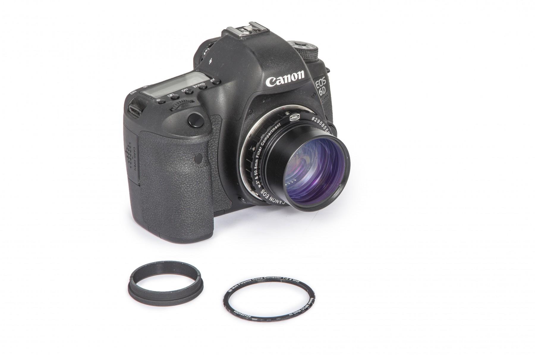 Anwendungsbild: MPCC V-1 Set  mit Protective T-Ring an Canon Kamera - Zusammengesetzt