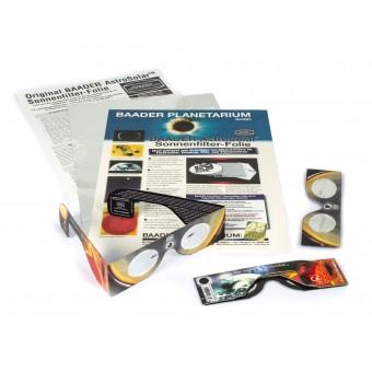 3x Solar Viewer Sonnensichtbrillen + 1x AstroSolar A4 Folie