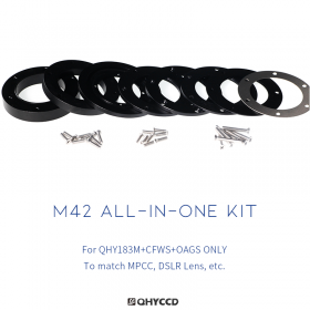 QHY All-In-One Adapter Kit M42, compatible with QHY183M, CFW3S Standard / Thin & OAGS