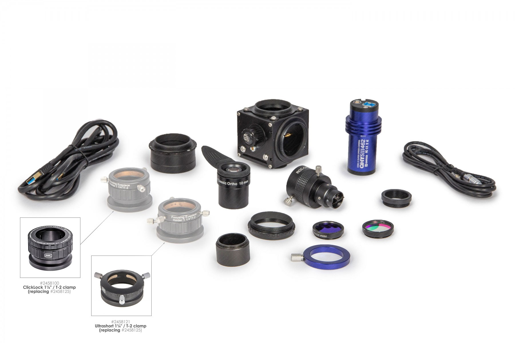For a limited time: Photo-Bundle QHY-5-III-462C + BFM II scope of supply