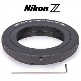 Wide-T-Ring Nikon Z (für Nikon Z Bajonett) mit D52i auf T-2 und S52