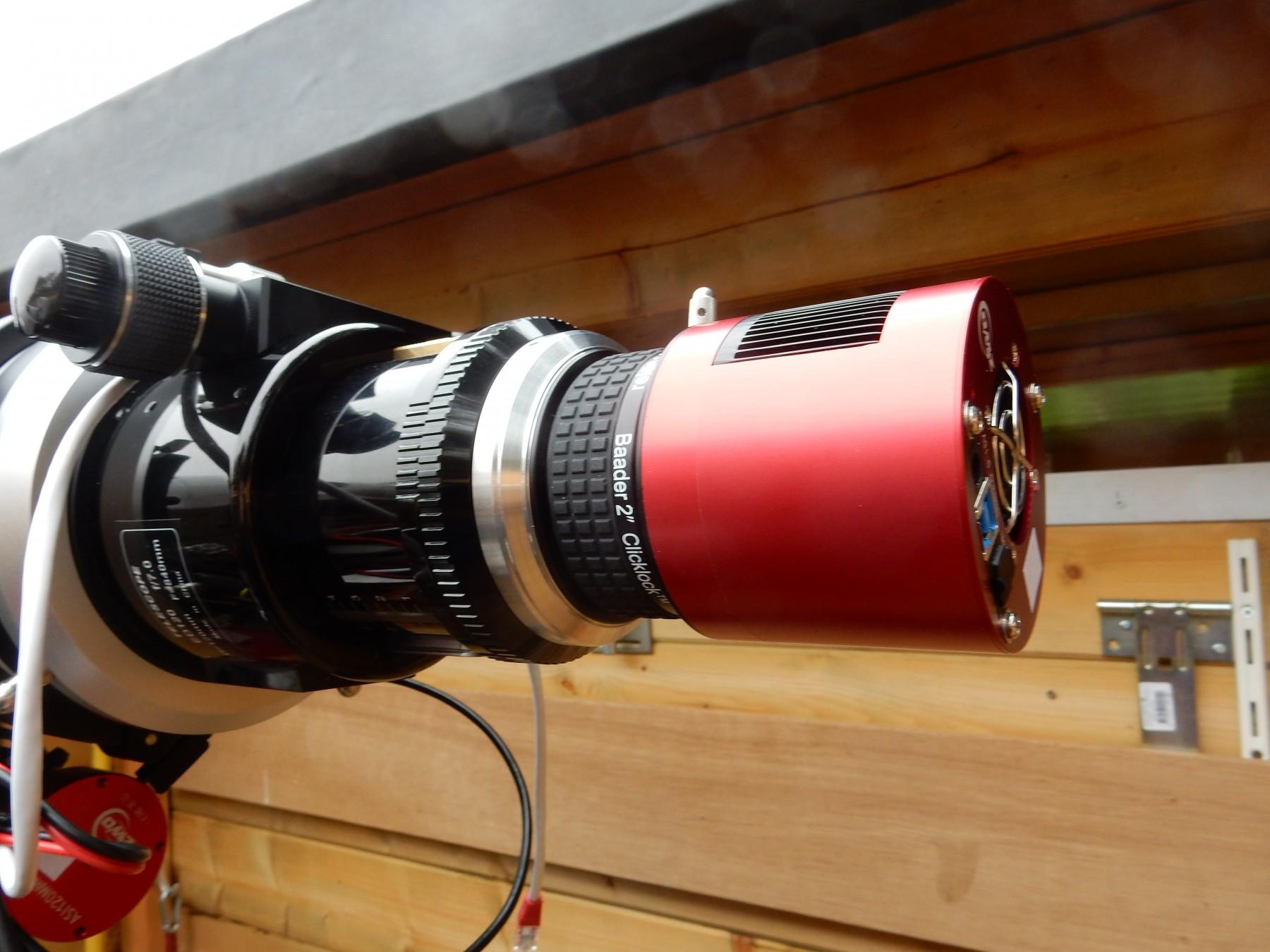 Erste Anwendungsbilder des - noch uneloxierten - M74i / M68i Adapter-Prototyps