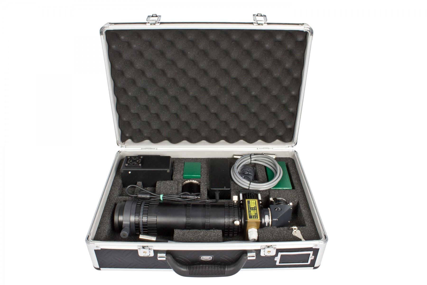 Example of included items for a SolarSpectrum Filter (shown #2459219: SolarSpectrum Solar Observer 1.5 - 0.50 Å)