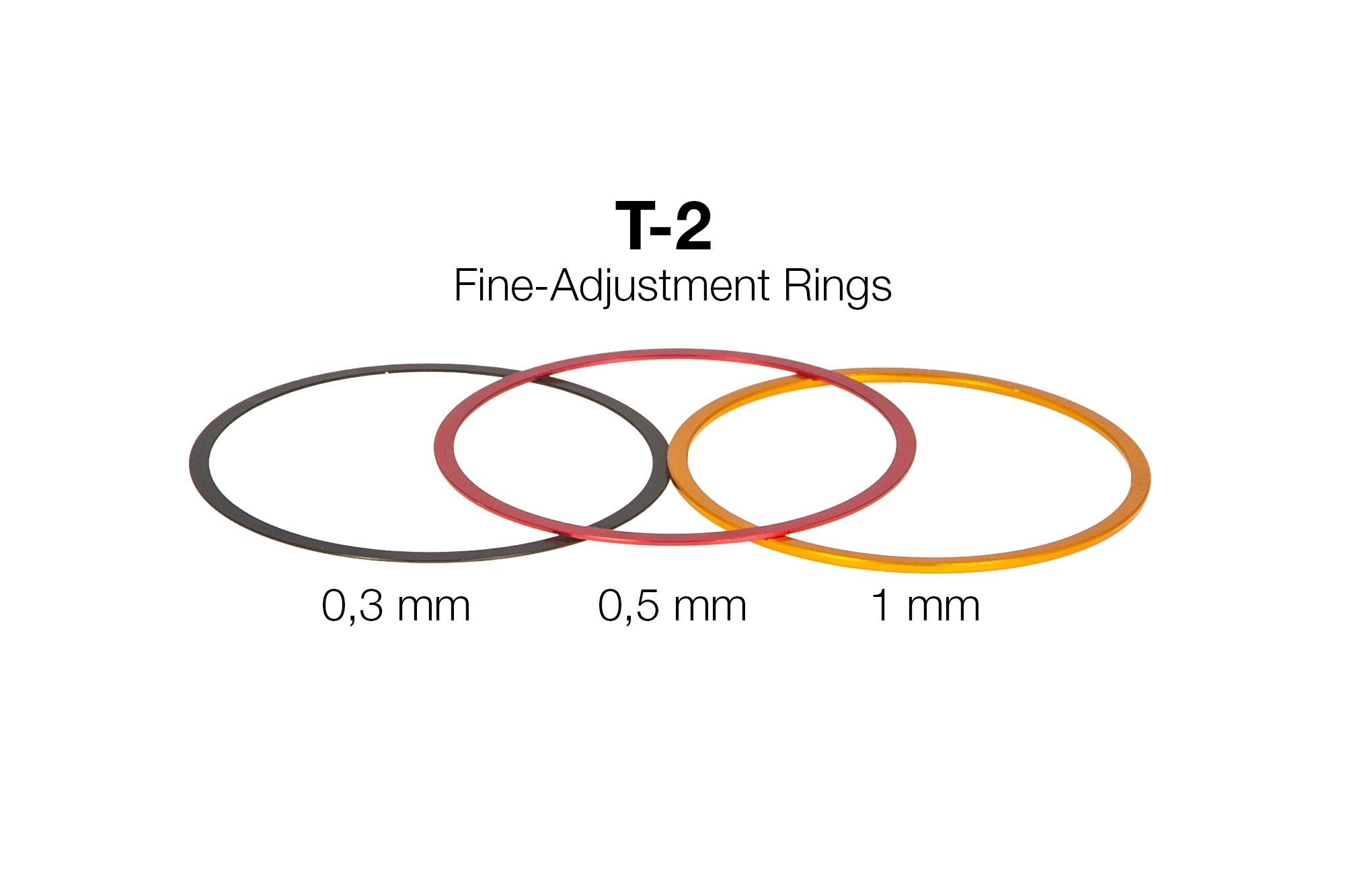 T-2 Fein-Abstimmringe  aus Aluminium (0,3 / 0,5 / 1 mm)
