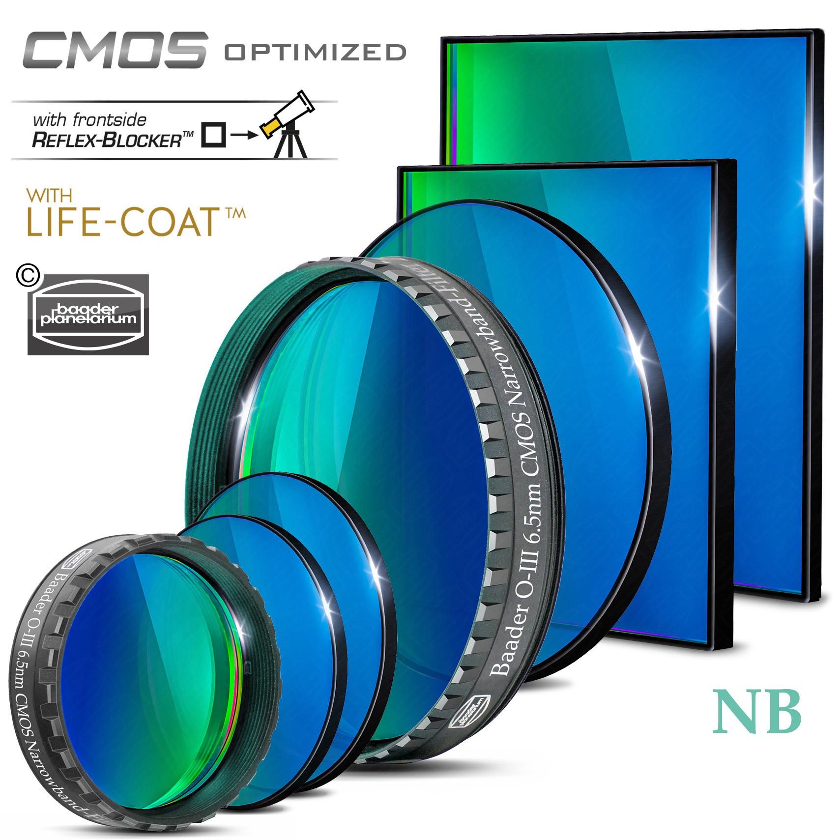 O-III Narrowband-Filter (6.5nm) – CMOS-optimiert