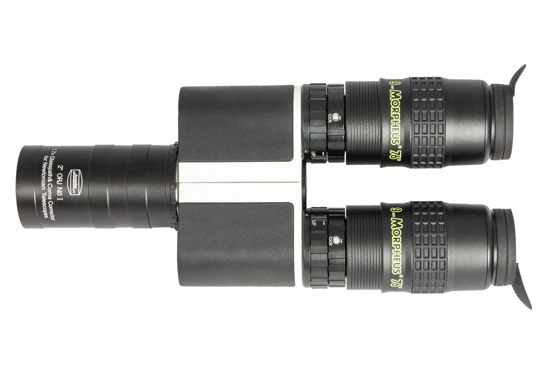"Application image: MaxBright® II Binoviewer with 2"" Newton Glasspathcorrector 1.7x (clear aperture 46 mm) and 9mm Morpheus eyepieces"