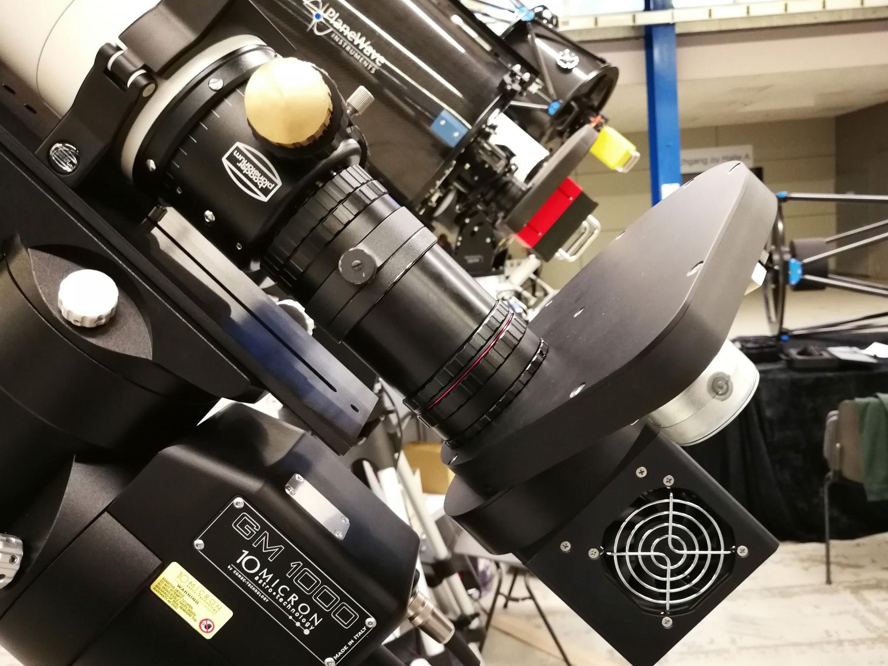 Anwendungsbild: Baader APO95 mit M68 Field Flattener und Baader Diamond Steeltrack
