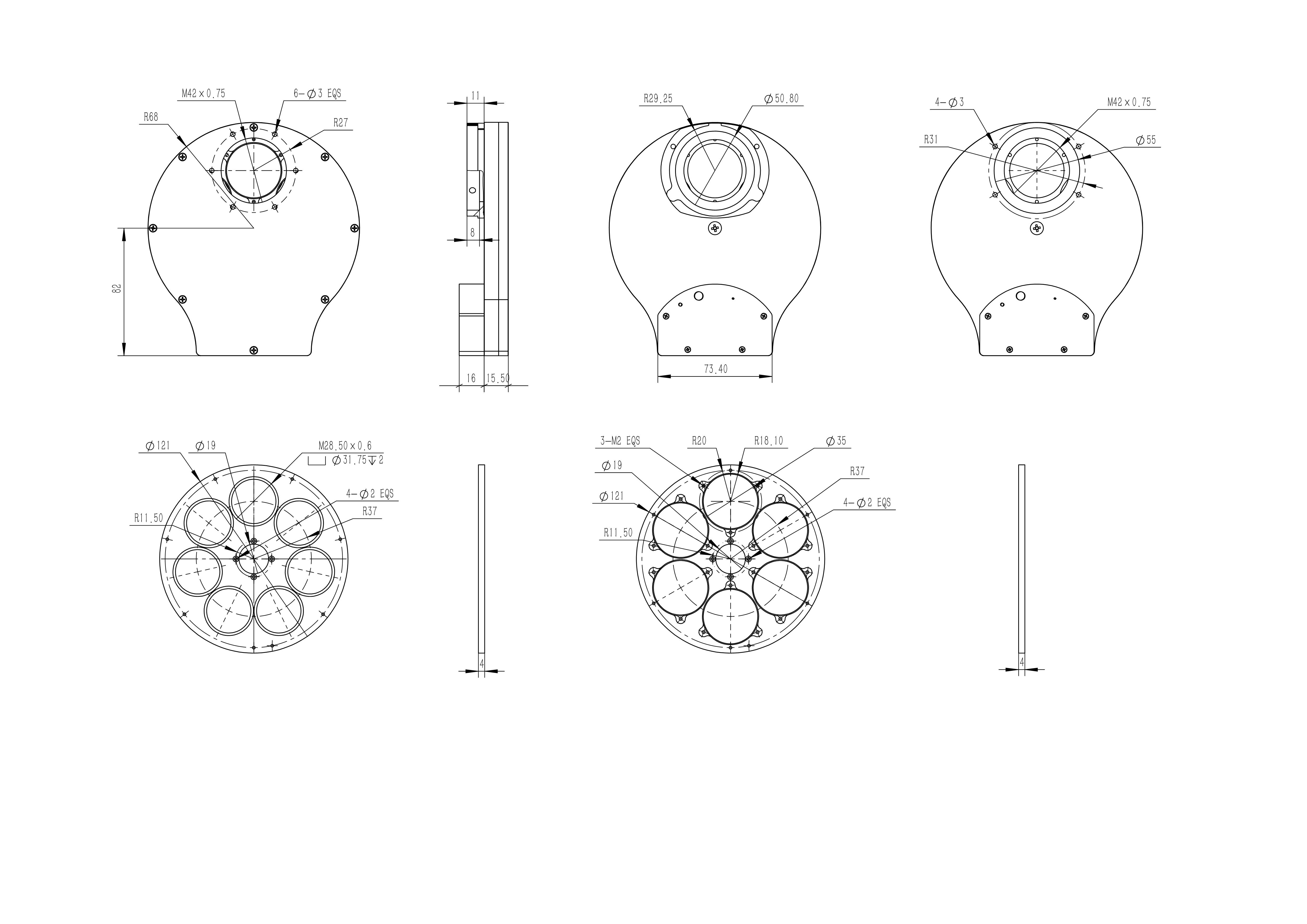 QHY CFW3 Technical Drawing