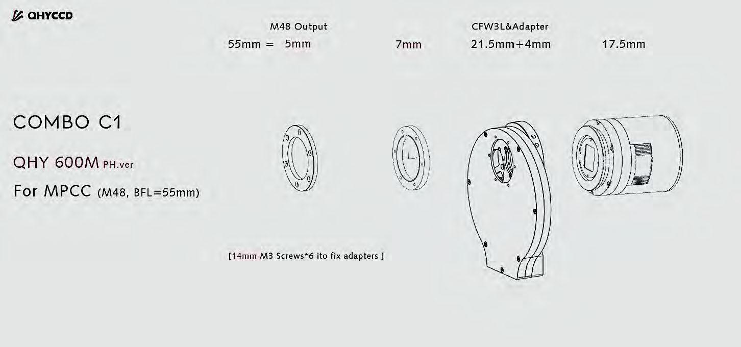 QHYCCD Adapterset C1