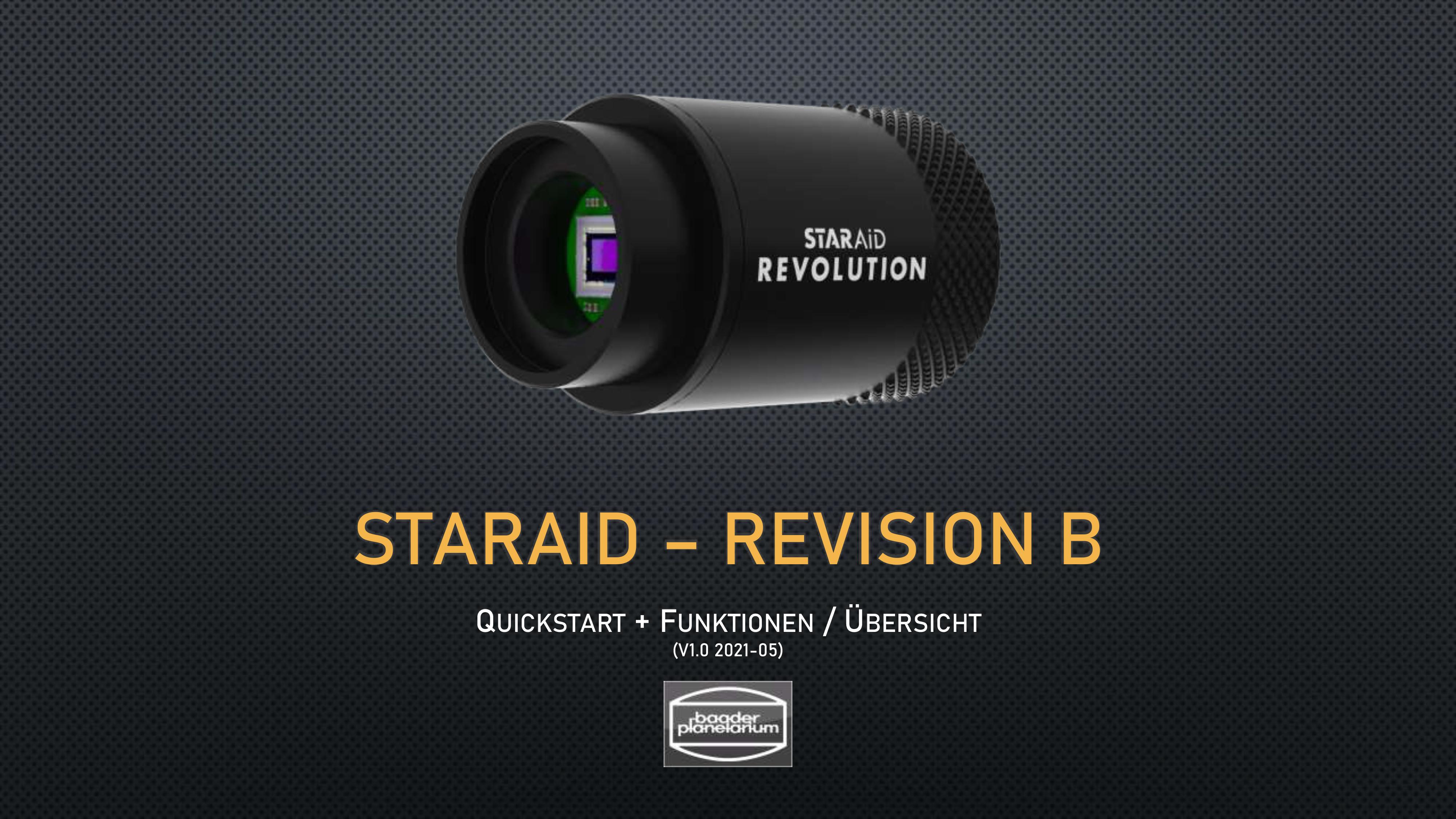 STARAID–REVISION BQUICKSTART+ FUNKTIONEN/ ÜBERSICHT