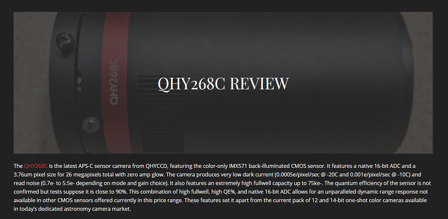 User's review QHY268C