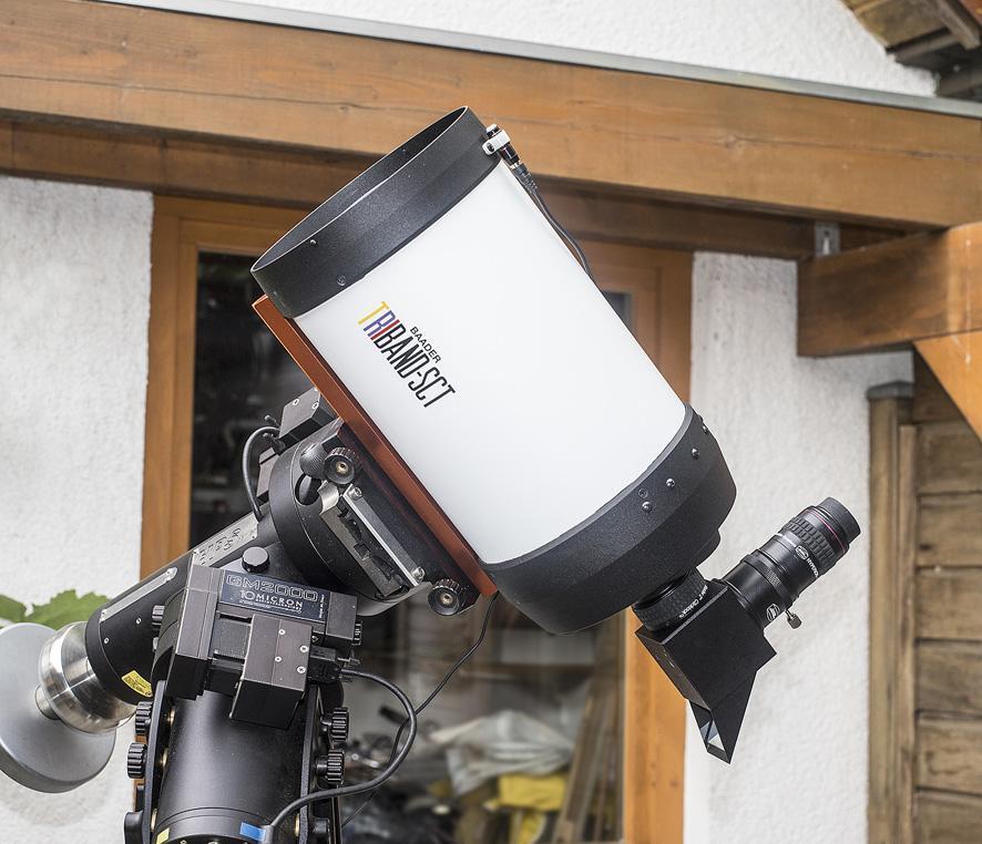 Mit einem Herschelkeil oder einem ASTF-Frontfilter ist die Weißlichtbeobachtung mit großer Öffnung und Auflösung möglich